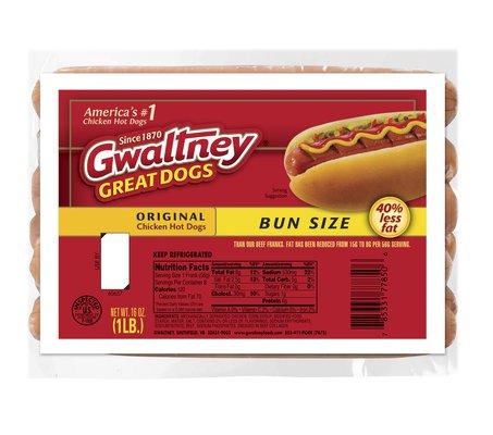 Bun Length Original Chicken Hot Dogs