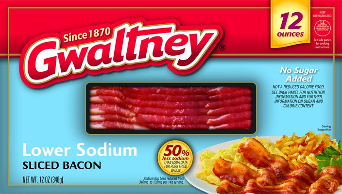 Lower Sodium Sliced Bacon