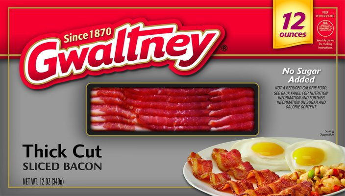 Thick Cut Sliced Bacon
