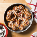 Heart-Shaped Gwaltney Bacon Cinnamon Rolls