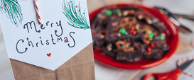 Chocolate Bacon Bark and Giveaway Bag