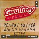 Peanut Butter Bacon Banana Bites